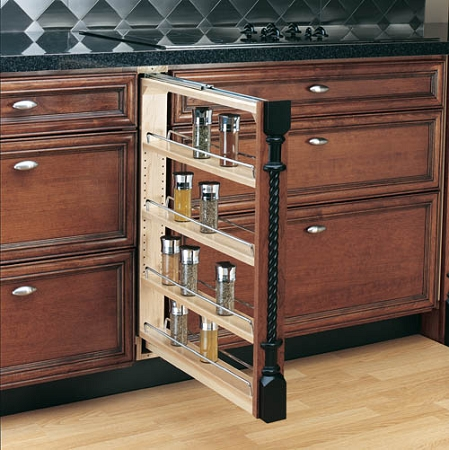 kitchen cabinet spice rack pull out base cabinet pull out spice rack 3 6 or 9 wide 19614