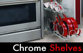 Chrome Pull Out Shelves