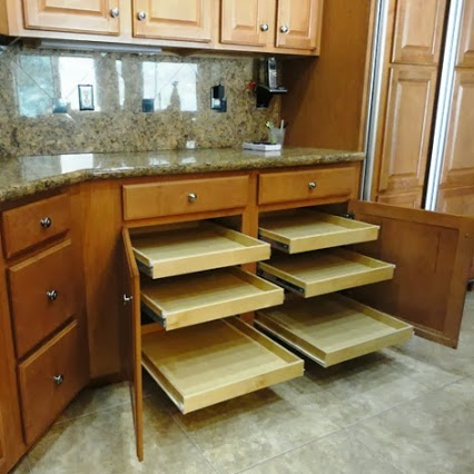 Kitchen Pull Out Shelves by Slide Out Shelves LLC