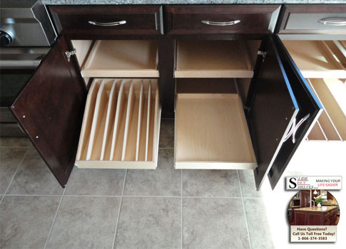 Lower Cabinet Pull Out Cupboard Shelves