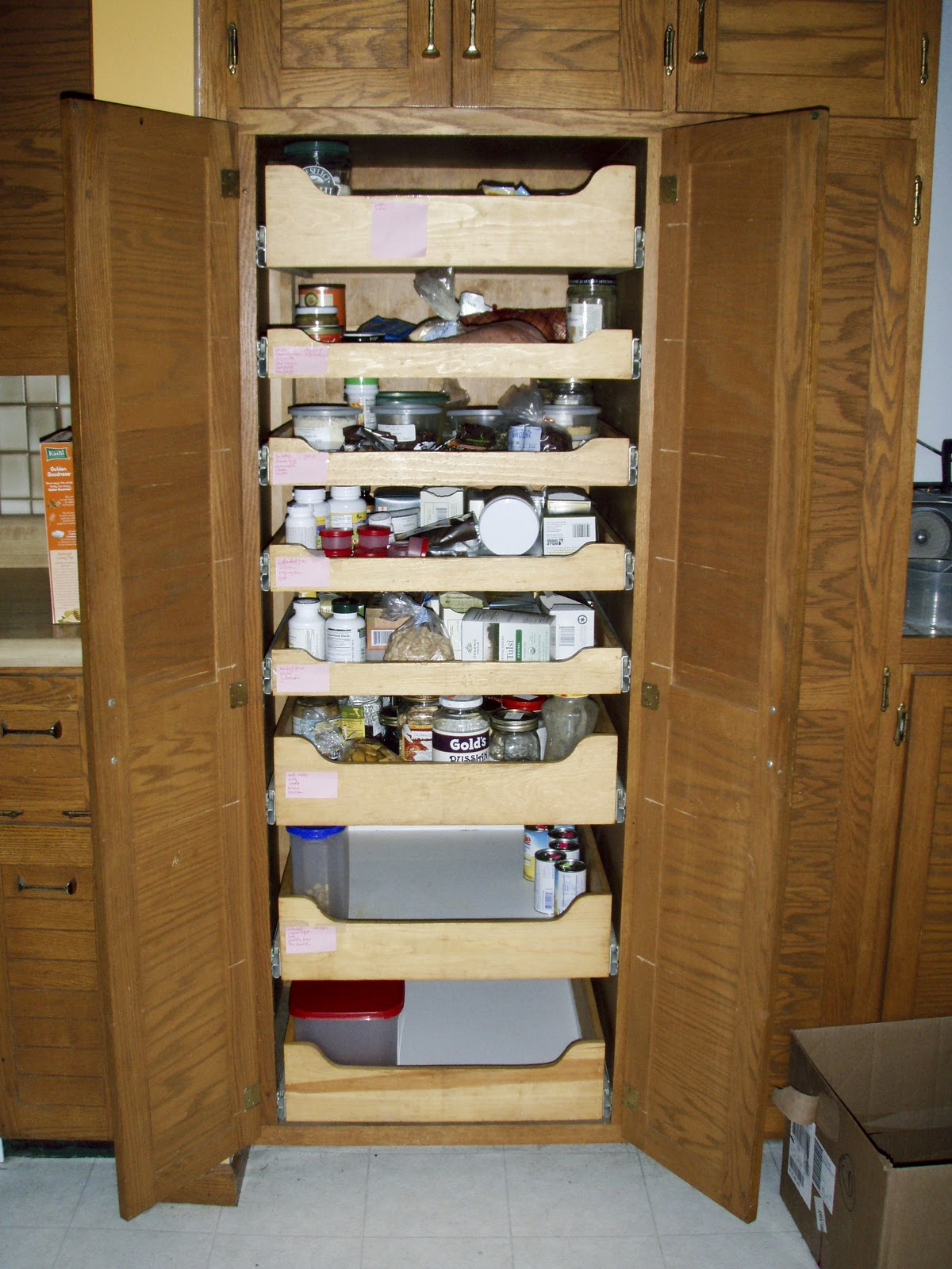 Pull Out Pantry Shelf Installation