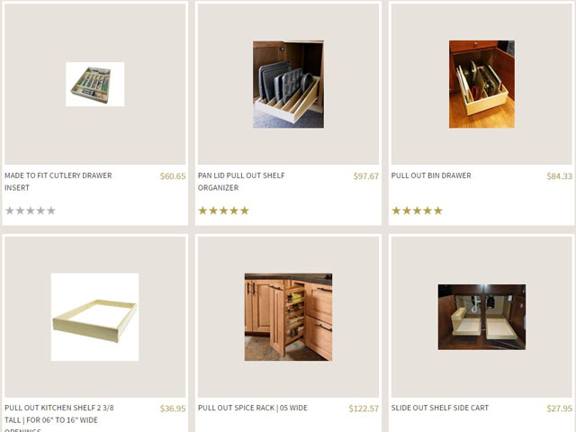 Step 1 - Select Your Pull Out Cupboard Shelf