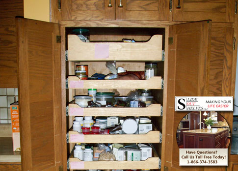 Pull Out Shelves Pantry Cabinet By Slideoutshelvesllc.com