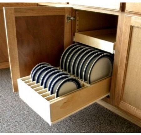 Home u003e Made To Fit Pull Outs u003e Pull Out Dinner Plate Organizer & Dinner Plate Pull Out Organizer Drawer-Slide Out Shelves LLC®