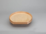 D-Shape LD Banded Wood Tray Lazy Susan