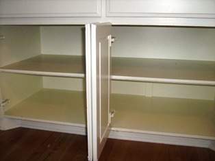 slide out shelf installation for deep cabinets