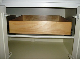 pull out shelf inside deep cabinet
