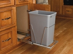 Single Slide Out Trash | 35Qt Silver