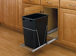Single Slide Out Trash | 35qt Black