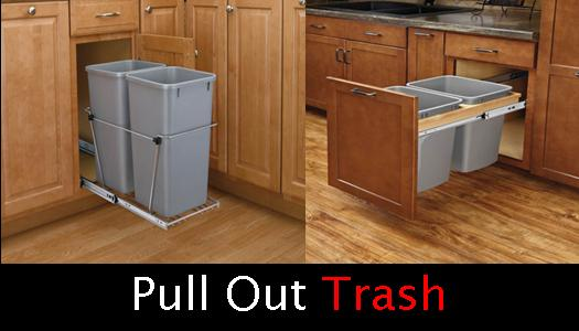 Pull out trash waste containers