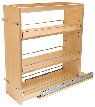 Pull out kitchen organizer adjustable shelf organizer - Base cabinet pull out spice rack ...