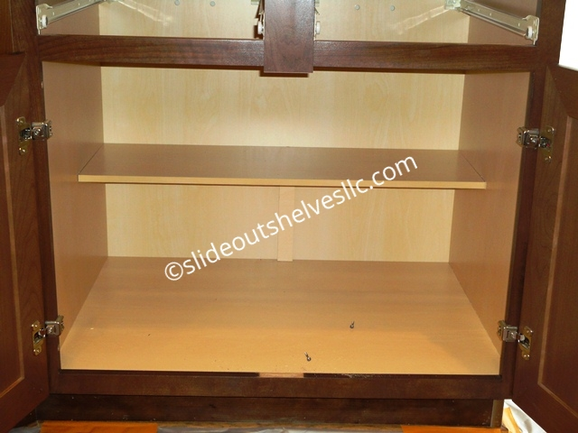 Removing Center Stile Cabinet Face Frame For Wide Shelves