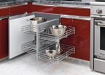 Chrome Blind Corner Pull Out Shelves