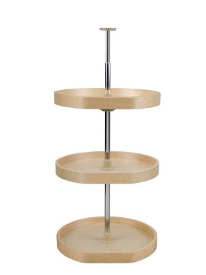 3 Shelf D Shaped Lazy Susan