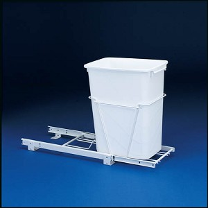 Single Slide Out Trash | 35 qt. 3/4 extension slides